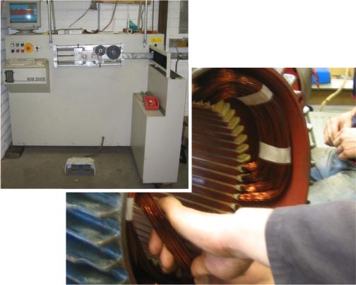 Images of motor rewind facilities at Clarke Rewinds