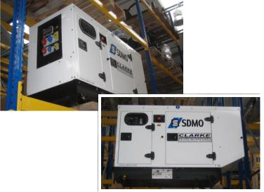 SDMO T16 multi phase generator, very low hours.